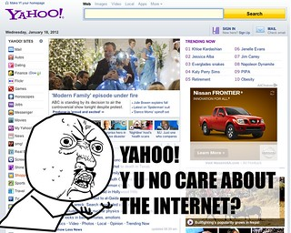 Yahoo! Y U NO CARE ABOUT THE INTERNET? | by Randy Stewart