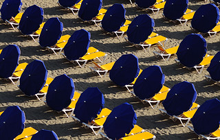 Blue Umbrellas  - Explore 60 - Getty Images | by rosiespoonerphotos