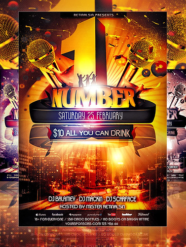 PSD NumberOne Party Flyer Template | by mexelina