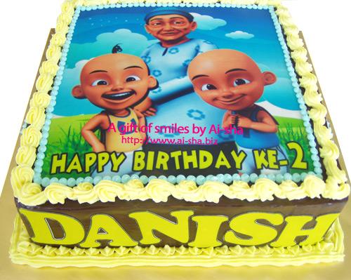 Birthday Cake Edible Image Upin Ipin Cake Cupcakes Cookies Aisha