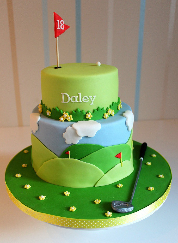 Golf themed cake for my boyfriends birthday I made this ca Flickr