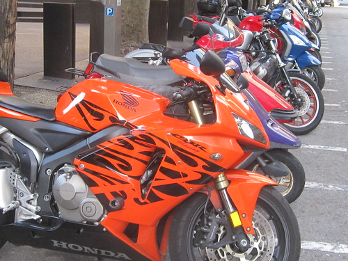 Orange Motorcycle with Tribal Design | by shaire productions
