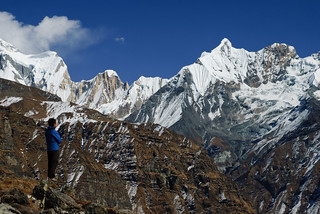 Annapurna III (7 555m), Nepal - Looking at the Immensity | by GlobeTrotter 2000