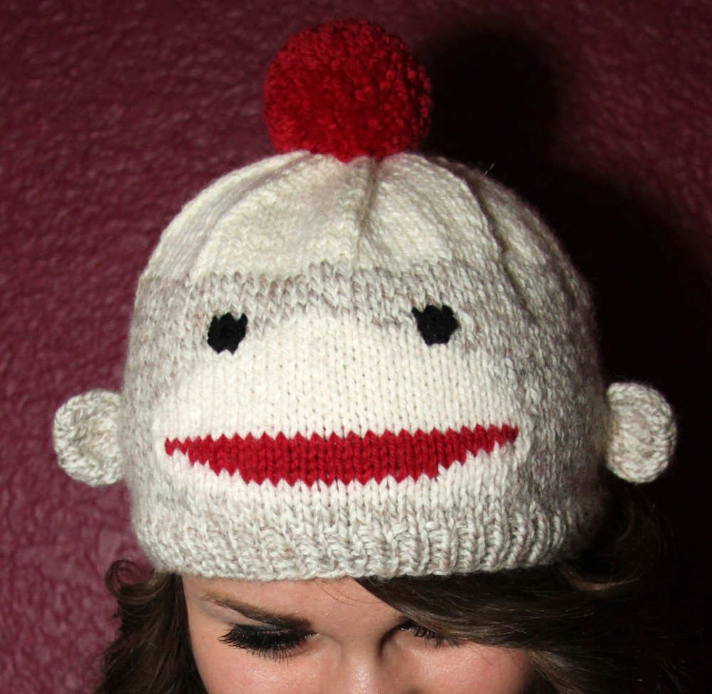 Hand Knit Sock Monkey Pattern Hat coming soon! | I\'ve finall… | Flickr