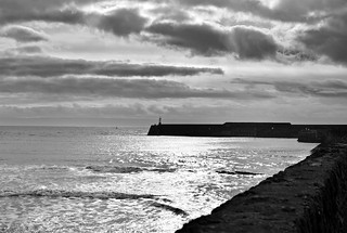 Harbour wall monochrome | by the mr gnu