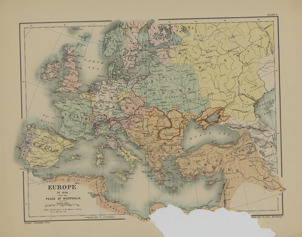 Map Page Of Section IX Europe After The Peace Of Westphali Flickr - Europe map 1648 westphalia