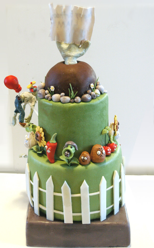 Plants Vs Zombies Birthday Cake The Back Of The Cake Ohmy