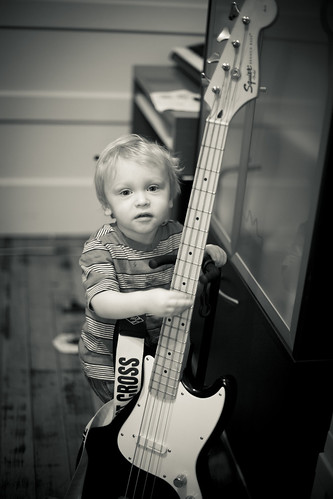 milo plays bass | by tlong