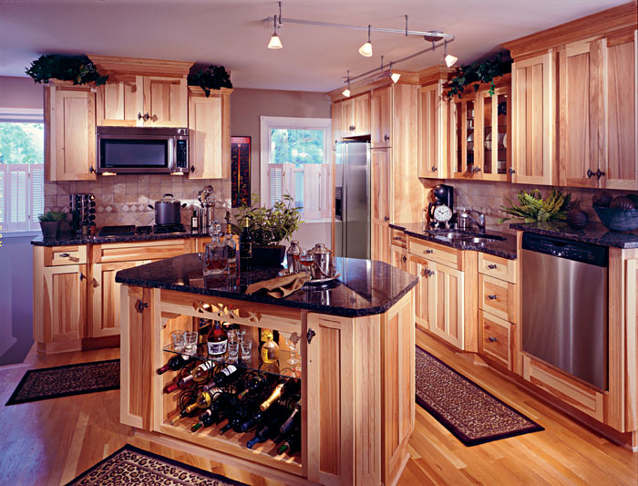 heritage hickory natural kitchen cabinetry by columbia kitchens of maryland inc - Columbia Kitchen Cabinets