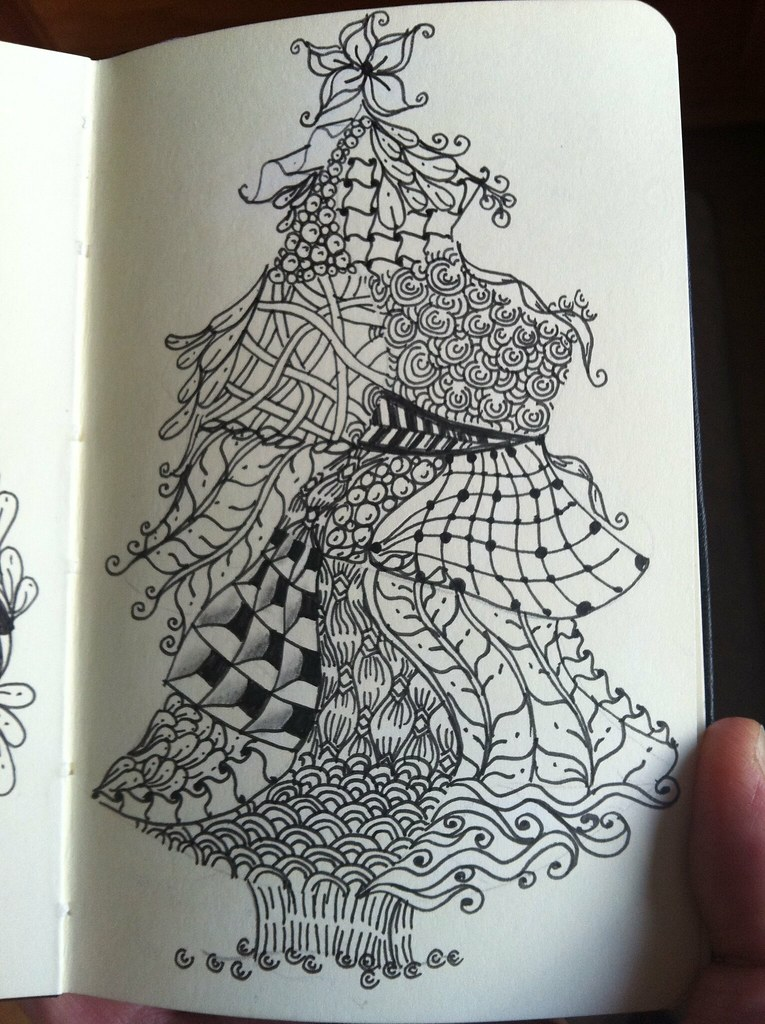 Zentangle Christmas tree | Zentangle Christmas tree tangles | Flickr