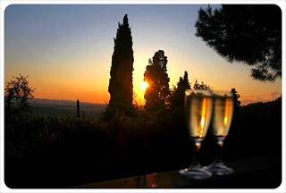 iano sunset with champagne | by globetrottergirls
