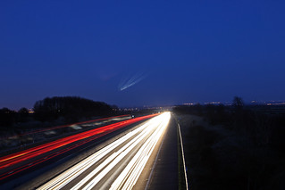 Dusk on the M18 towards Doncaster | by Josephine's Photography