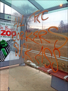 This is terrible: TTC Bus Shelter Graffiti, January 4, 2012 | by MPriceMitchell