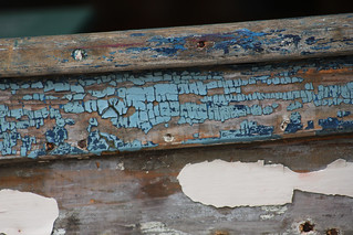 side of weathered, old sailboat | by two hungry dogs
