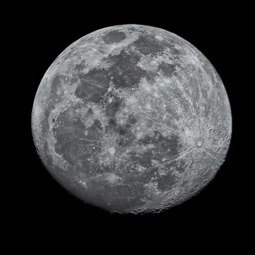 Moon Waxing Gibbous January 2012