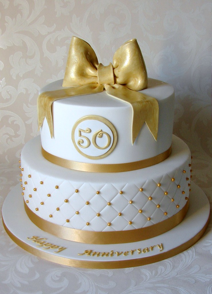 50th Wedding Anniversary Cake | Thanks to Spring Lake Cakes … | Flickr