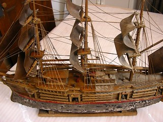 1 - Ship model: during cleaning | by Webb Conservation