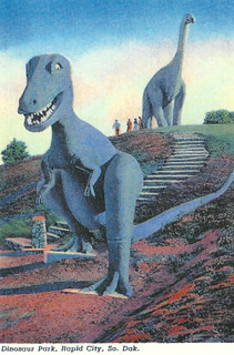 South Dakota - Rapid City, Dinosaur Park, Tyrannosaurus Rex | by 9teen87's Postcards