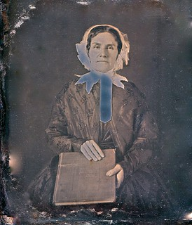Woman With Large Book, Partly Solarized A. Gaudin 1/6th-Plate Daguerreotype, Circa 1850 | by lisby1