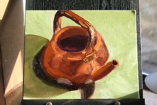 Copper Kettle Study 3: Triad of Orange, Sap Green, and Violet | by SarabellaE / Sara / Love in the Suburbs