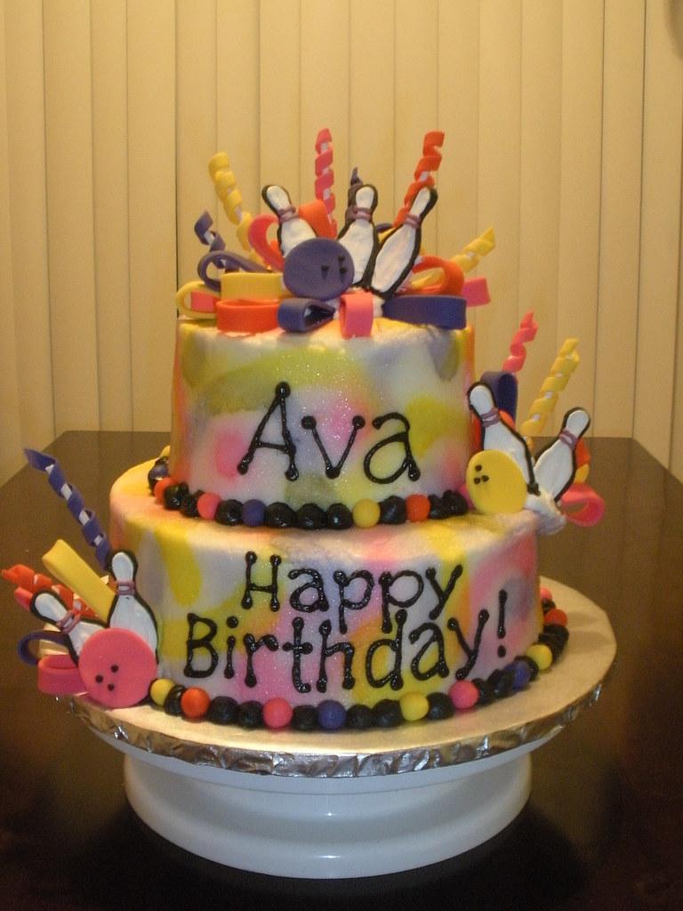 Cosmic Bowling Birthday Cake Cakemommy Flickr