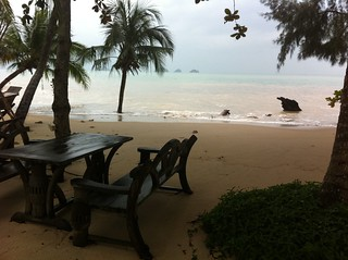 Baan Taling beach, Koh Samui, during high tide | by Marc van der Chijs