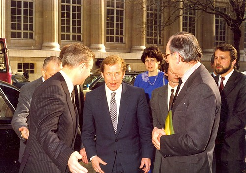 Visit of Václav Havel to SSEES, 22 March 1990 | by UCL SSEES