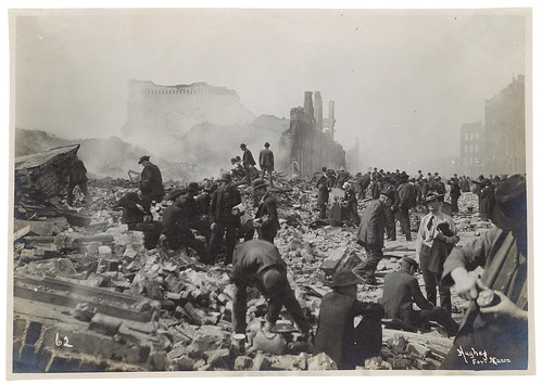 Photograph of Souvenir Hunters After the 1906 San Francisco Earthquake, 1906 | by The U.S. National Archives
