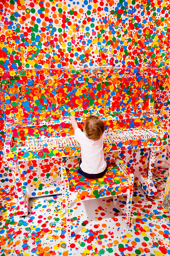 More Piano Dots - Yayoi Kusama's 'The obliteration room' | by Stuart Addelsee