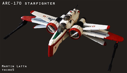 UCS Star Wars ARC-170 starfighter (with instruction) | by thire5