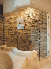 custom master bathroom by cascadeglass - Custom Master Bathrooms