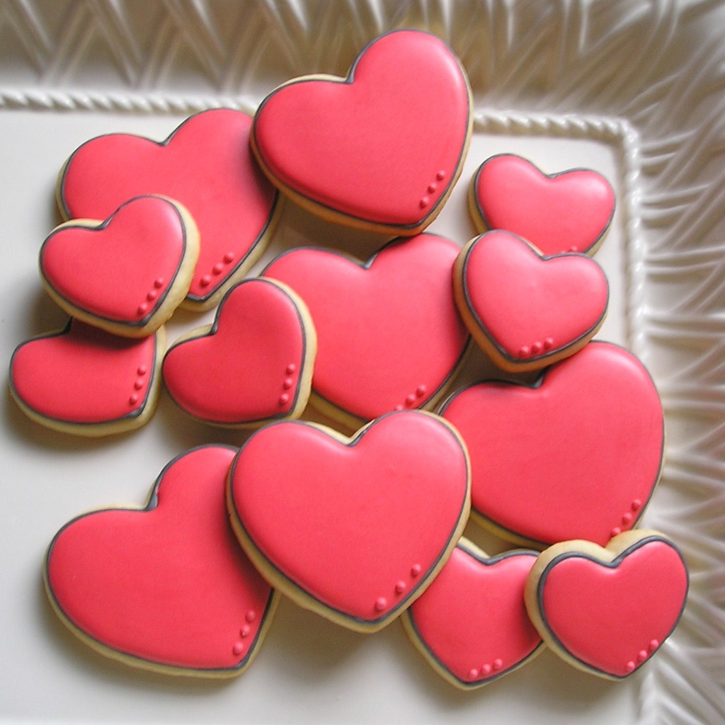 Heart Sugar Cookies With Royal Icing | By . . . Sugar Dot Cookies .