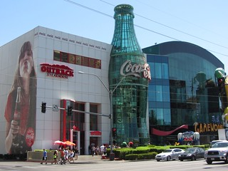 Strip Mall with Coca Cola, Gameworks, Outback and M&Ms Stores | by puroticorico