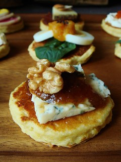 Blue Cheese & Pear Butter Matafan | by ComeUndone