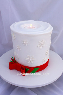 Candle Cake | by Mycakeschool.com