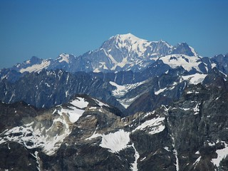 The King of Alps: Mont Blanc (Monte Bianco, 4810 m. Alpi Graie, Graian Alps) view from Plateau Rosà | by Nicholas-G