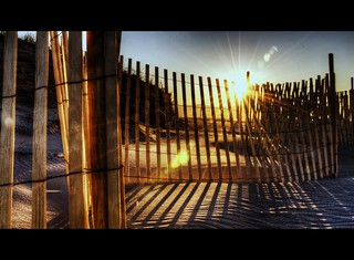Sun, Sand and Fence - Explored ... Just Barely #490 | by Babylon and Beyond Photography