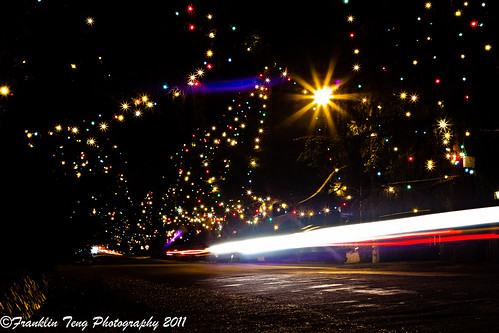 Natural Starburst - Light trails running through Christmas Tree Lane | by FJT Photography