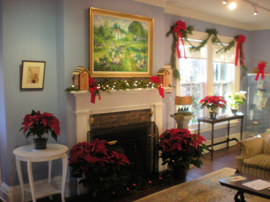 ... Walther House Front Parlor, Christmas At Presby Iris Memorial Gardens,  Montclair, NJ |