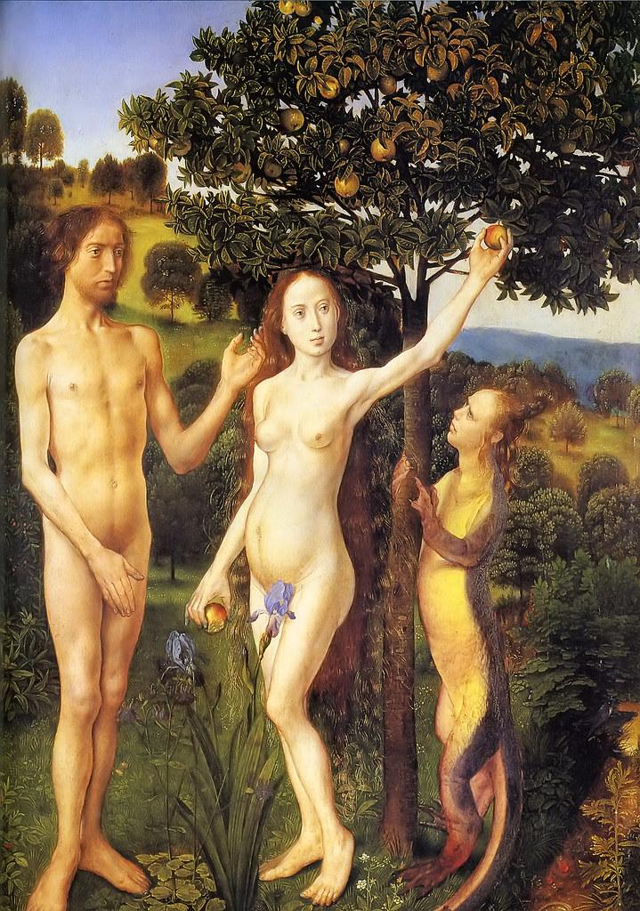 1470 The Fall Of Adam And Eve Hugo Van Der Goes C 1470
