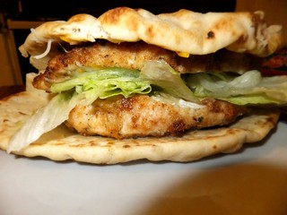 My Oven-Baked Flat-Bread Chicken Sandwhich | by BrokeBoysPhotos