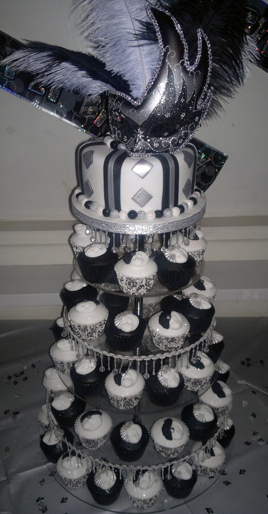 Black White And Silver Masquerade 21st Birthday Cake And Flickr