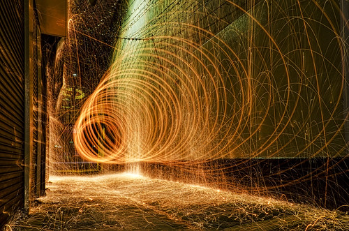 First attempt in Steel Wool Photography | by teddybearwithatowel