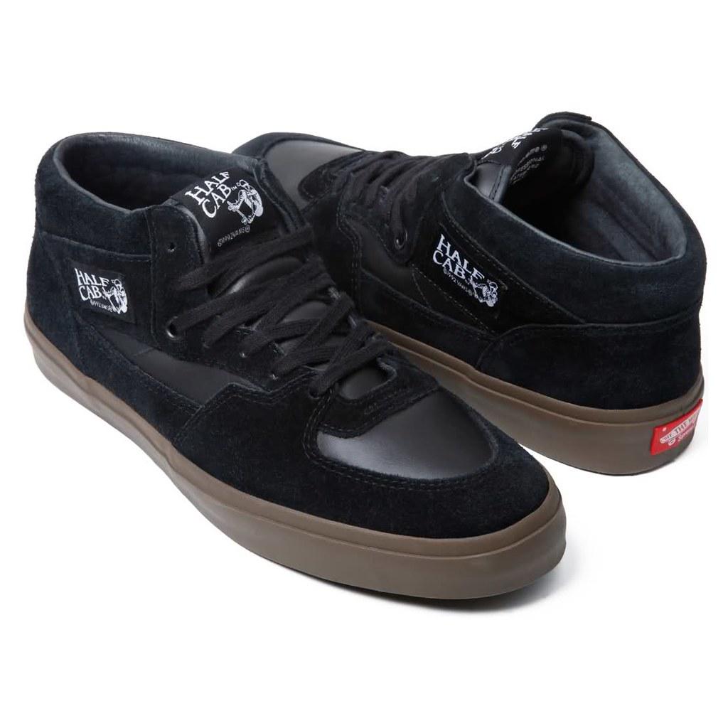 9bd3df278b ... vans half cabs black gum sole