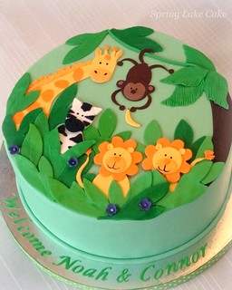 Jungle Baby Shower Cake | by springlakecake
