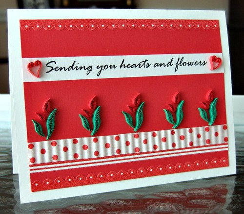 Quilled Valentine Card | by all things paper