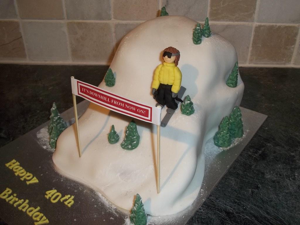 Ski Slope Cake A Novelty Ski Slope Madeira Cake Dawn Flickr