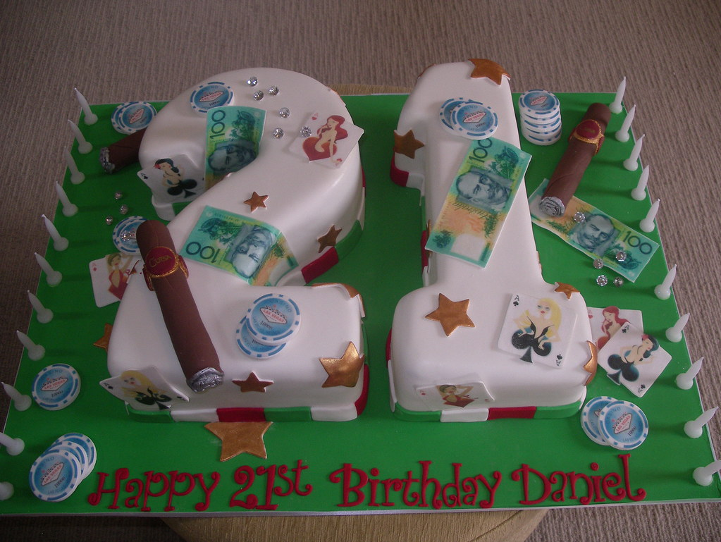 High Roller Boys 21st Birthday Cake Angelas Whimsical Cakes Flickr