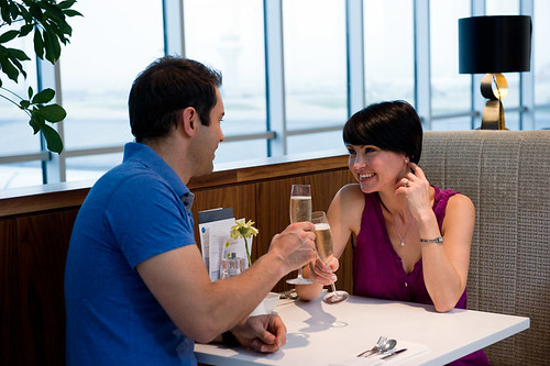 Gatwick no1 lounge romantic couple | by Holidayextras