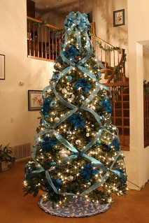 Blue and Silver Elegant Christmas Tree...with a little Disney | by Mastery of Maps
